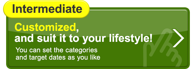 Intermediate Customized, and suit it to your lifestyle! You can set the categories and target dates as you like