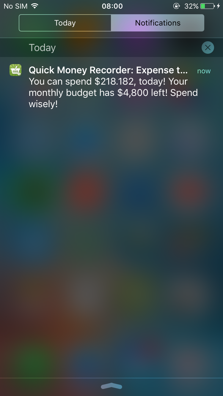 Daily-Budget-Notification